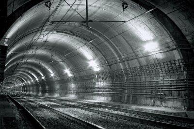 Fotomural Vazio, metrô, túnel