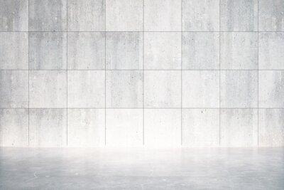 Fotomural Vazio, sala, concreto, chão, parede