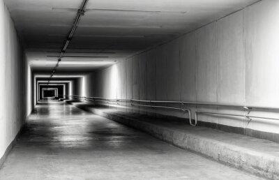 Fotomural Vazio, túnel, noturna