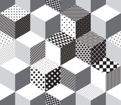 Fotomural Vector 3d cubes pattern