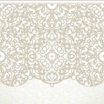 Fotomural Vector beira ornamentado sem emenda no estilo oriental.