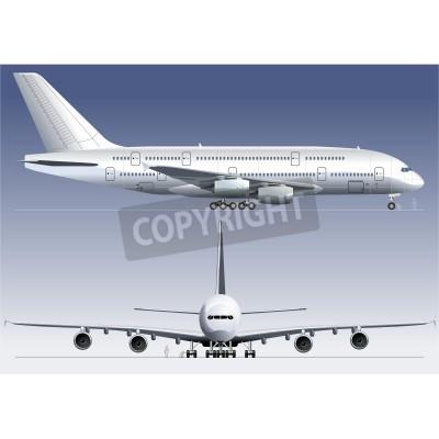 Fotomural Vector double-deck A380 Jetliner Lagest