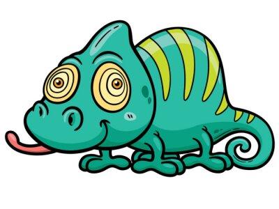Fotomural Vector illustration of Cartoon Chameleon