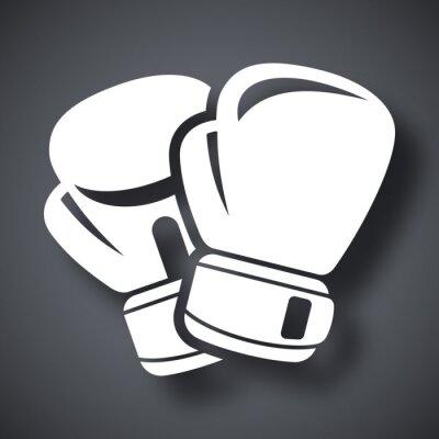 Fotomural Vector luvas de boxe ícone