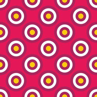 Fotomural Vector moderno seamless colorido geometria círculos padrão, cor fundo geométrico abstrato, travesseiro impressão multicolorido, textura retro, design de moda hipster