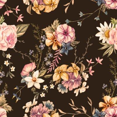 Fotomural Vector padrão de aguarela floral