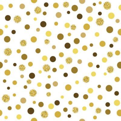 Fotomural Vector padrão de ouro padrão glitter