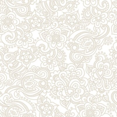 Fotomural Vector padrão sem emenda com fundo floral romântico