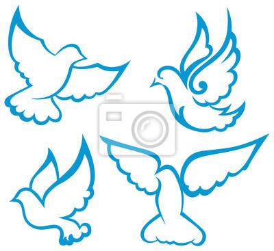 Vector Pomba Simbolo Fotomural Fotomurais Espirito Santo