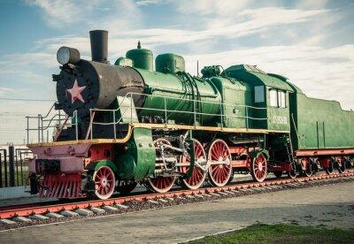 Fotomural velhas locomotivas a vapor do século 20