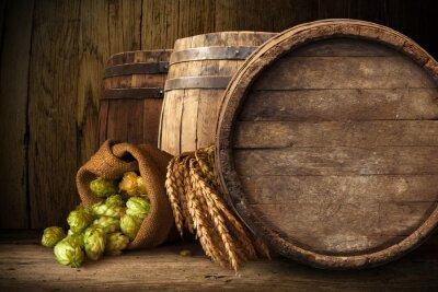 Fotomural Velho barril de madeira