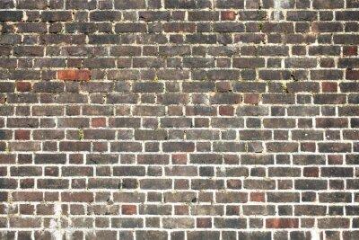 Fotomural Velho, grande, resistido, afligido, vermelho, parede, tijolo, fundo