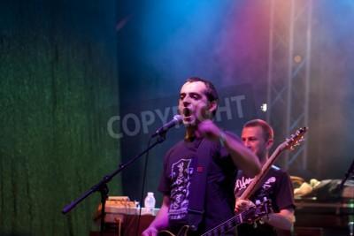 Fotomural Veliko Tarnovo, Bulgária - 02 de junho: banda tributo ao Metallica realiza um show no Motorock festival Veliko Tarnovo 2012, em 2 de Junho de 2012 em Veliko Tarnovo, Bulgária.