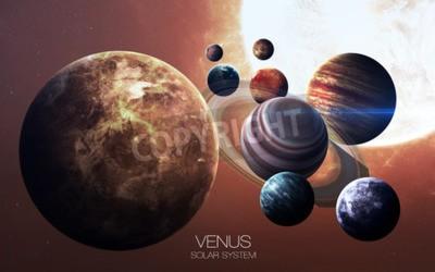 Fotomural Vênus - imagens de alta resolução apresenta planetas do sistema solar.