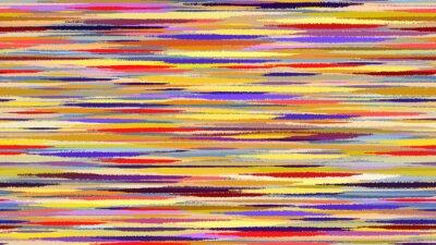 Fotomural Verão fundo abstrato da aguarela. Azul linhas amarelas vermelhas borrão de movimento de transição. Fundo de Digitas raster ilustração.