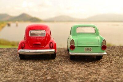 Fotomural Vermelho, verde, brinquedo, parque, parque, par, estrada
