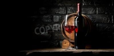Fotomural Vermelho, vinho, fundo, antigas, pretas, tijolos