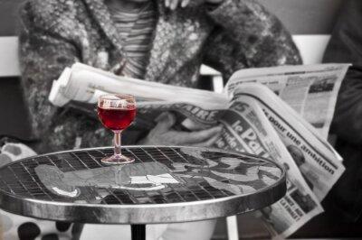 Fotomural Verre de vin dans un bistrot - Paris, França