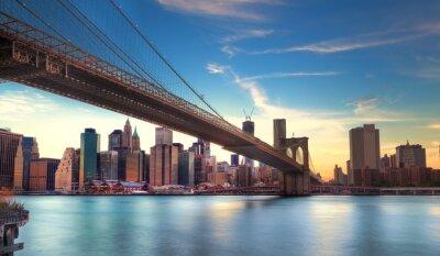 Fotomural Vers Pont de Brooklyn de Manhattan, Nova York.