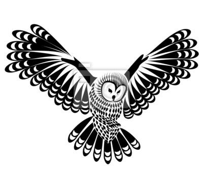 Vetor Do Passaro Da Coruja De Mascote Ou Tatuagem Desenho Ou