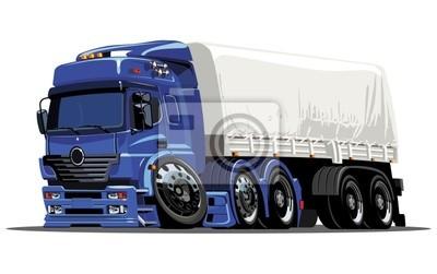 vetor dos desenhos animados da carga caminhão semi fotomural
