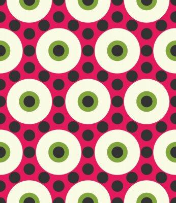 Fotomural Vetor moderno seamless colorido geometria círculo padrão, cor abstrato geométrico fundo, travesseiro multicolorido impressão, textura retro, hipster moda design