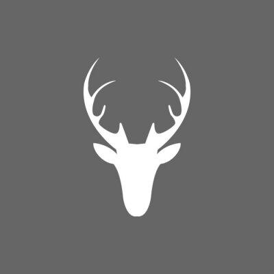 Fotomural Vetor Natal cervo cabeça ícone