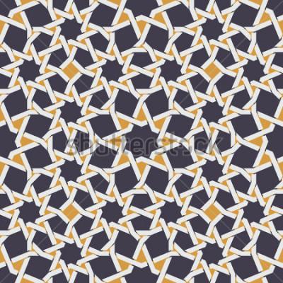 Fotomural Vetor sem estrela linha estrela islâmica em amarelo
