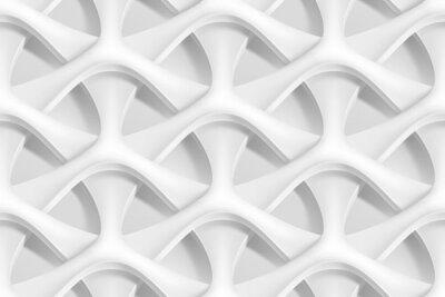 Fotomural Vetorial, seamless, abstratos, geométrico, 3D, ondas, Padrão