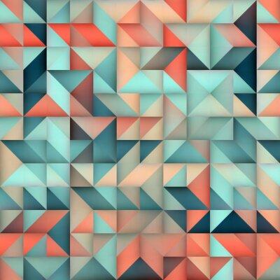 Fotomural Vetorial, sem emenda, azul, cor-de-rosa, gradiente, triângulo, irregular ...