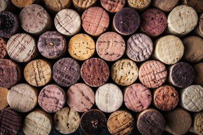 Fotomural Vinho, cortiça, fundo, close-up