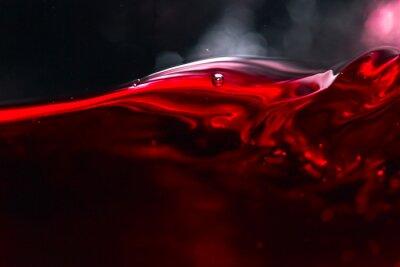 Fotomural Vinho tinto no fundo preto