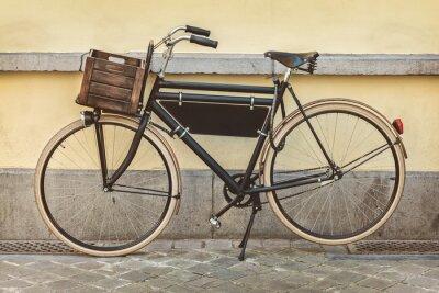 Fotomural Vintage bicicleta com caixote de madeira
