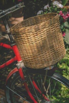 Fotomural Vintage bicicleta com cesta