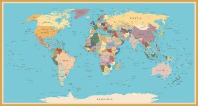 Fotomural VINTAGE WORLD MAP