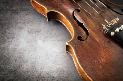 Fotomural Violino instrumento de música de orquestra closeup