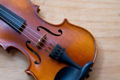 Fotomural Violino, madeira, tabela