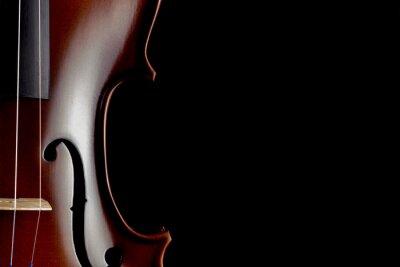 Fotomural Violino, parcial, vista, pretas, fundo