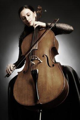 Fotomural Violoncelo, jogador, violoncelista, tocando