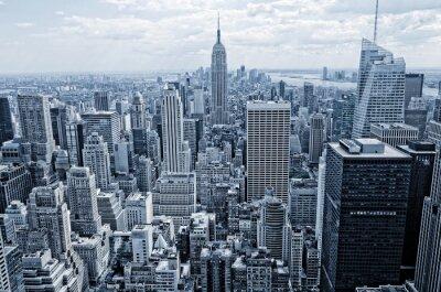 Fotomural Vista abstrata a partir da altura de Manhattan