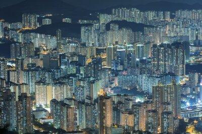 Fotomural Vista aérea da cidade de Hong Kong
