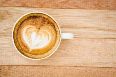 Fotomural Vista, Coração, composto, café