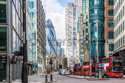 Fotomural Vista da cidade de Londres em torno da estação de Liverpool Street