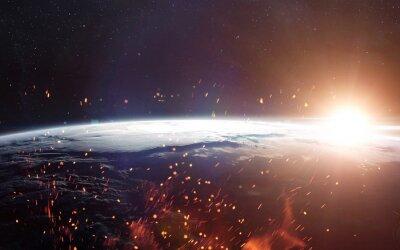 Fotomural Vista da terra do espaço. Elementos desta imagem fornecidos pela NASA