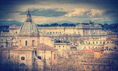 Fotomural Vista de Roma. Foto tonificada retro