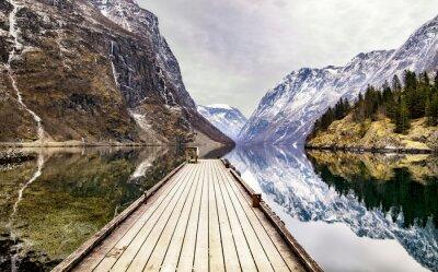 Fotomural Vista, Gudvangen, vila, direção, fjord, noruega