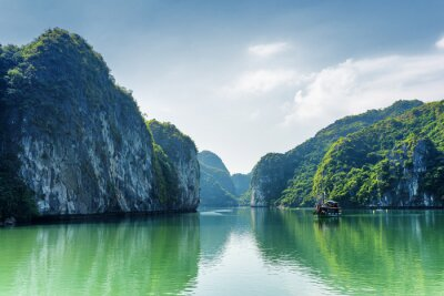 Fotomural Vista, lagoa, Ha, longo, baía, sul, china, mar, vietnã