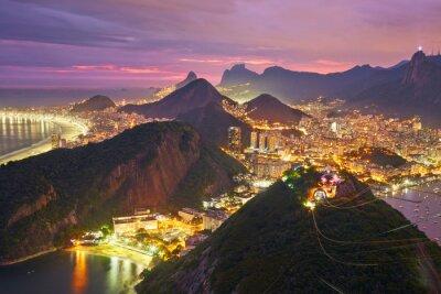 Fotomural Vista noturna do Rio de Janeiro, Brasil