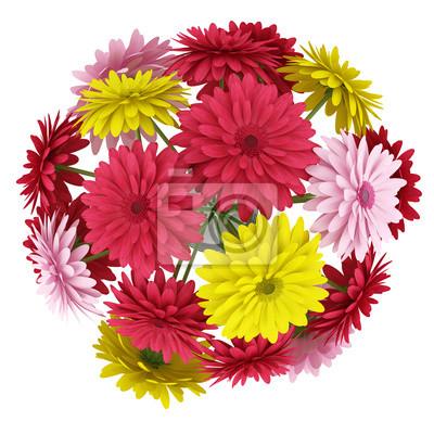 Vista Superior Buquê De Flores Vermelhas E Rosas Amarelas Isoladas