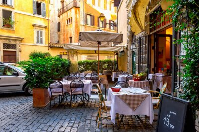 Fotomural Vista, velho, cozy, rua, roma, itália